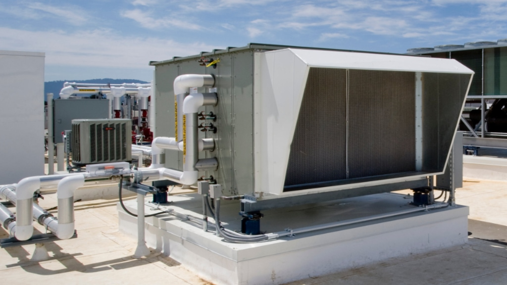 Commercial heating service.